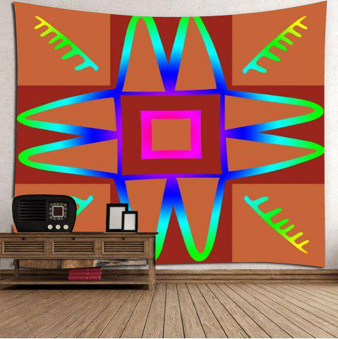 Outfits Wall Art Decor Unique Design Hanging Tapestry - W59 INCH * L51 INCH DEEP ORANGE Mobile