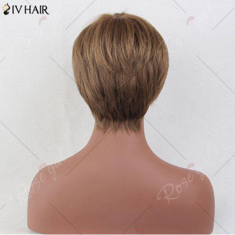 Hot Siv Hair Short Layered Side Bang Straight Colormix Human Hair Wig - COLORMIX  Mobile