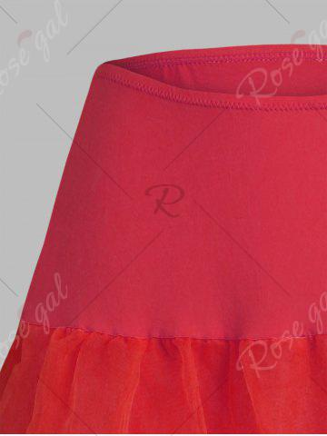 Shop Plus Size Cosplay Light Up Party Skirt - RED 2XL Mobile