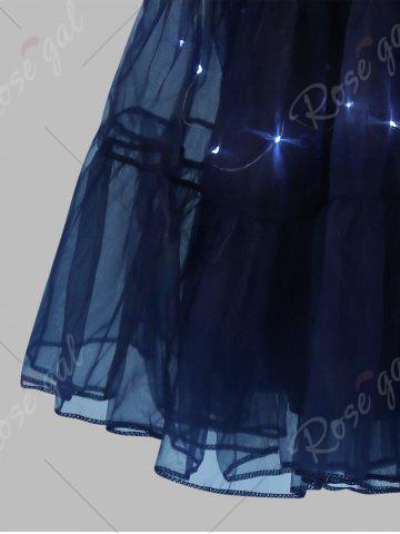 Sale Plus Size Cosplay Light Up Party Skirt - CERULEAN 4XL Mobile