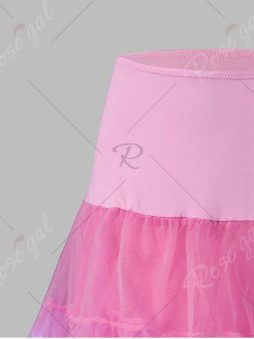 Hot Plus Size Cosplay Light Up Party Skirt - 6XL LIGHT PINK Mobile