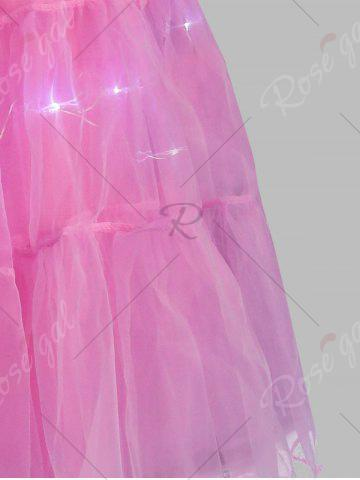 Buy Plus Size Cosplay Light Up Party Skirt - LIGHT PINK 5XL Mobile