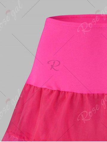 Outfits Plus Size Cosplay Light Up Party Skirt - 6XL TUTTI FRUTTI Mobile
