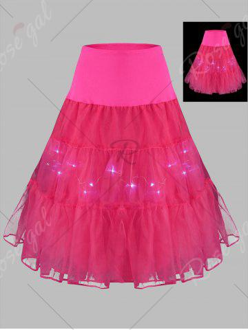 Outfits Plus Size Cosplay Light Up Party Skirt - TUTTI FRUTTI 3XL Mobile