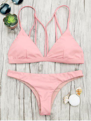 Back Strappy Padded Bathing Suit