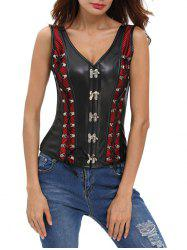 Lace Up Faux Leather Corset Vest