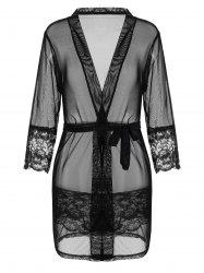 See Thru Mesh Wrap Sleepwear