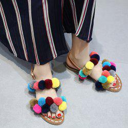Bohemian Colorful Pom Pom Sandals