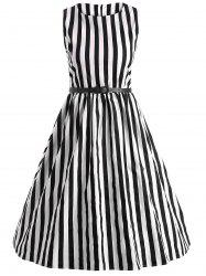 Vintage Stripe Pin Up Dress