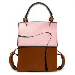 Top Handle Ribbon Print Backpack - PINK
