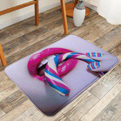 Anti-Slip Soft Absorption Funny Lip Bath Rug