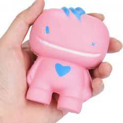 Simulation Big Mouth Monster PU Squishy Toy - PINK