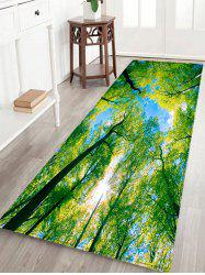 Forest Sky Pattern Anti-skid Water Absorption Area Rug