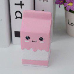 Simulation Milk Box Stress Relief PU Squishy Toy - PINK