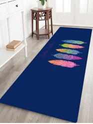 Boho Feather Pattern Anti-skid Water Absorption Area Rug