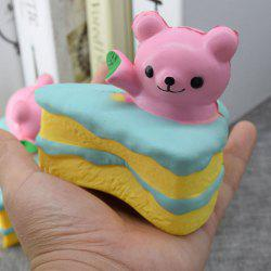 Simulation Cake Bear Slow Rebound PU Squishy Food - PINK