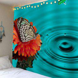 Butterfly Water Print Waterproof Wall Hanging Tapestry