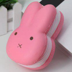 Simulation Macaron Rabbit Bread PU Squishy Toy -
