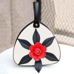 PU Leather Flower Handbag -