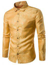 Long Sleeve Paisley Vintage Shirt - YELLOW
