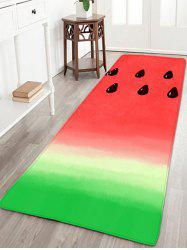 Watermelon Color Flannel Antiskid Area Rug