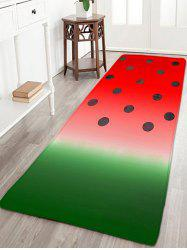Bathroom Skidproof Watermelon Color Printed Rug