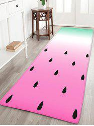 Flannel Antiskid Watermelon Bathroom Rug