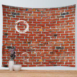 Brick Wall Print Tapestry Wall Hanging Art Decoration - Laterite - W79 Inch * L59 Inch