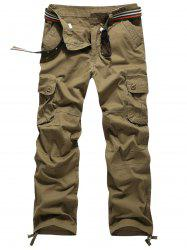 Zip Fly Pockets Straight Cargo Pants