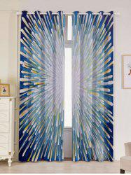 2 Panels Blackout Firework Print Window Curtains -