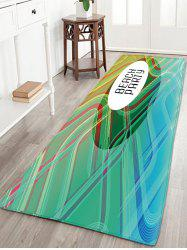 BEACH PARTY Print Stripe Flannel Rug