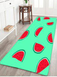 Watermelon Pattern Bathroom Skidproof Flannel Rug