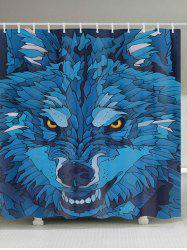 Cartoon Wolf Pattern Fabric Waterproof Bathroom Shower Curtain