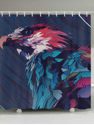 Eagle Painting Print Fabric Waterproof Bathroom Shower Curtain - COLORMIX W59 INCH * L71 INCH