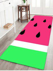 Watermelon Flannel Skid Resistant Bath Mat