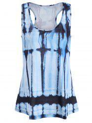 Tie Dye Plus Size Sleeveless Top
