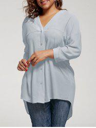 High Low Drop Shoulder Plus Size Top