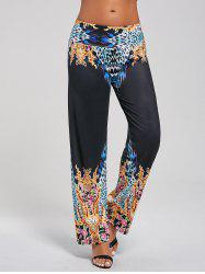Floral Leopard Printed Palazzo Pants