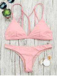 Back Strappy Padded Bathing Suit -