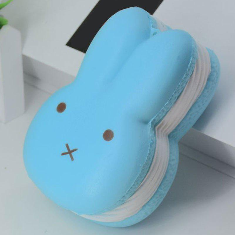 Shops Simulation Macaron Rabbit Bread PU Squishy Toy