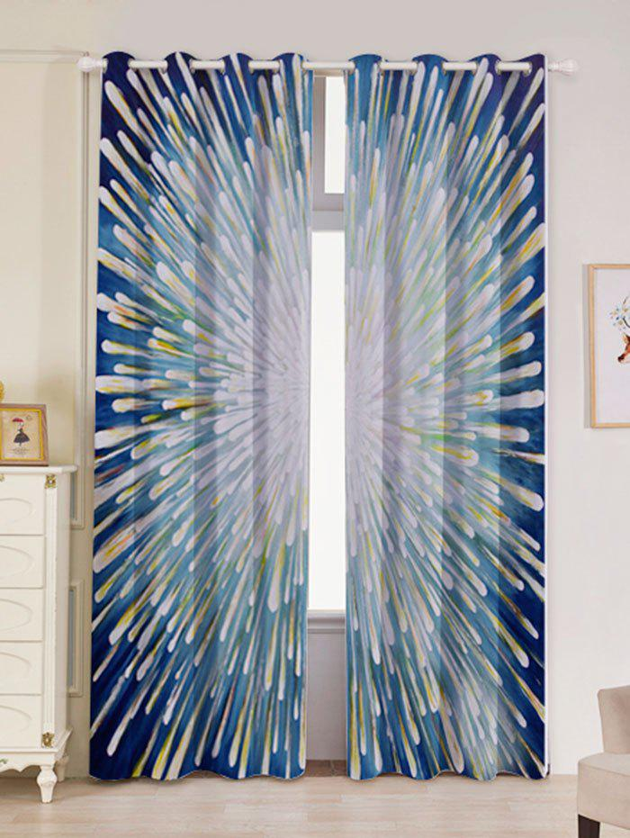 Cheap 2 Panels Blackout Firework Print Window Curtains