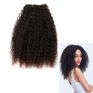 Medium Fluffy Afro Kinky Curly Synthetic Hair Weft - Dark Auburn Brown