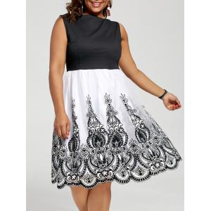 A Line Sleeveless Plus Size Homecoming Dress