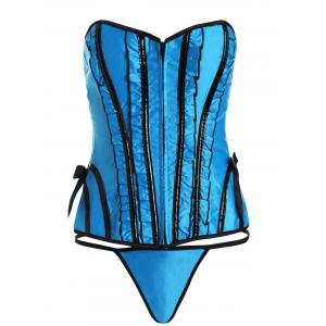 Zip Lace Up Waist Training Corset