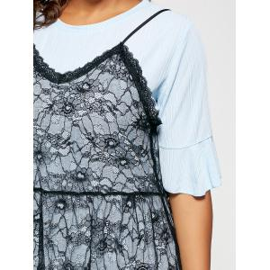 Long Tee and Plus Size Lace Slip Dress -
