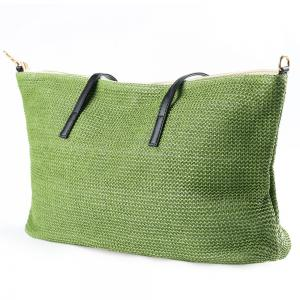 Straw Weave Shopper Bag -