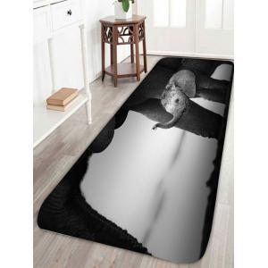 African Elephant Bathroom Floor Non Slip Door Mat