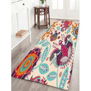 Bohemian Flower Flannel Antislip Bath Rug