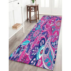 Antislip Flannel Bohemian Floral Pattern Rug