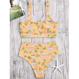 Floral High Waisted Bikini Set -